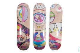 Dobtopus Conplete Skateboard Set Of 3 Autographed By Takashi Murakami by Takashi Murakami x ComplexCon