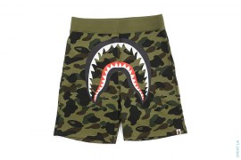 1st Camo Big Mouth Shark Sweatshorts by A Bathing Ape