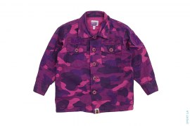 Color Camo Wing Logo Vintage Wash Button-Up Shirt by A Bathing Ape