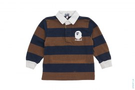 Royal Apehead Emblem Rugby Border by A Bathing Ape