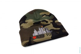 I Love New York Camo Beanie by Supreme