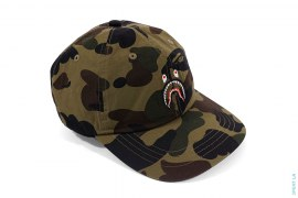 1st Camo Embroidered Shark Strapback Hat by A Bathing Ape