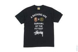 Survival Of The Fittest Capsule Tee by A Bathing Ape x Stussy