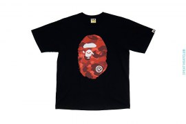 Classic Coming & Going Straight Through Apehead Color Camo Tee by A Bathing Ape