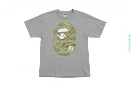 Classic Coming & Going Straight Through Apehead Tiger Camo Tee by A Bathing Ape