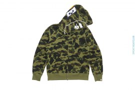 Ultimate 1st Camo BAPE Wappen Apehead Full Zip Hoodie by A Bathing Ape