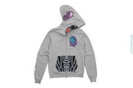 Alienface Alien Camo Sleeve Full Zip Hoodie by A Bathing Ape x Alien