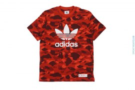Ultimate Color Camo Trefoil Logo Tee by A Bathing Ape x adidas