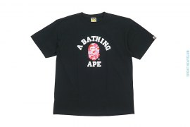 Color Camo Colloge Logo Tee by A Bathing Ape