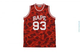 Color Camo Mesh Basketball Jersey by A Bathing Ape
