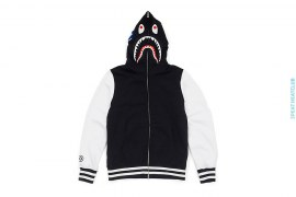 Shark Hooded Sweat Varsity Jacket by A Bathing Ape