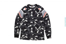 Ultimate City Camo Double Shark Long Sleeve Tee by A Bathing Ape