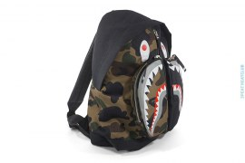 1st Camo Split Double Pocket Shark Backpack by A Bathing Ape