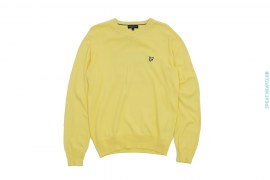 Cotton V-neck Heritage Sweater With Patched Logo by Lyle & Scott