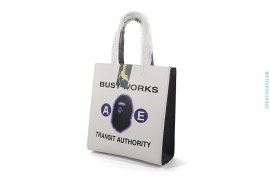 Classic Busy Works Shopping Bag Leather Mini Tote by A Bathing Ape