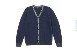 Lambswool Cardigan by Fred Perry