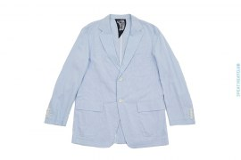 Searsucker Cotton Vertical Stripe Blazer Sport Coat by BBC/Ice Cream
