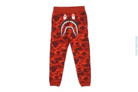 Color Camo Shark Slim Sweatpants by A Bathing Ape