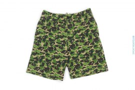 ABC Bendy Camo Zip Pocket Sweatshorts by A Bathing Ape x Kaws