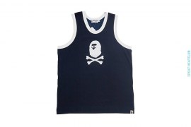 Felt Applique Apehead Cotton Jersey by A Bathing Ape