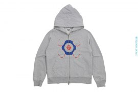 Apeface Companion Target Full Zip Hoodie by A Bathing Ape x Kaws