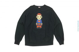 Superman Crewneck Sweatshirt by A Bathing Ape x DC Comics