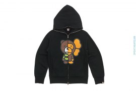 Milo Companion Bear Split Full Zip Hoodie by A Bathing Ape x Kaws