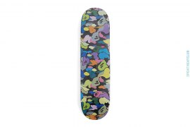 Multi Camo Skateboard Black by A Bathing Ape