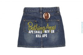 Champion Logo Denim Skirt by A Bathing Ape