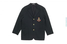 Emblem Patch Jacquard Camo Lined Blazer Sports Coat by A Bathing Ape