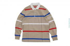 Striped Rugby Long Sleeve Polo Shirt by Supreme