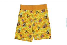 ABC SpongeBob Camo Sweatshorts by A Bathing Ape x SpongeBob