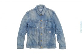 Vintage Wash Light Denim Work Jacket by Neighborhood