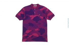 Zoom Color Camo Small Apehead Polo Shirt by A Bathing Ape