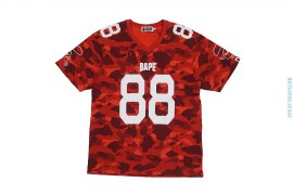 Color Camo Border V-Neck Cotton Football Jersey by A Bathing Ape