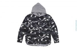 City Camo Hooded Button-Up Shirt by A Bathing Ape