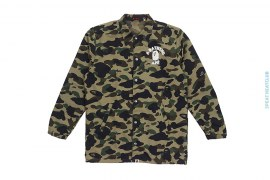 OG 1st Camo College Logo Coaches Jacket by A Bathing Ape