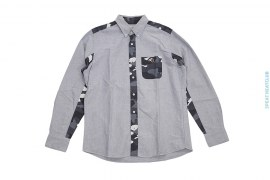 City Camo Accent Button Up Shirt by A Bathing Ape