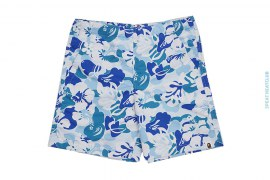 ABC Aloha Hybiscus Camo Swimshorts by A Bathing Ape