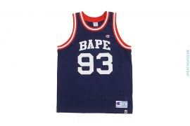 Classic C Logo Basketball Mesh Embroidered Jersey by A Bathing Ape x Champion