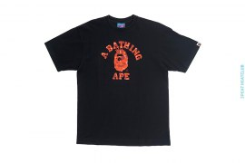 Color Camo Liberty College Logo Tee by A Bathing Ape