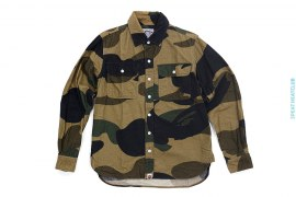 Zoom 1st Camo Flannel Button Up Shirt by A Bathing Ape