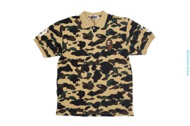 Big Apehead  Ultimate 1st Camo Pique Polo Shirt by A Bathing Ape