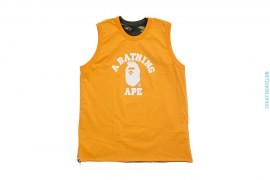 Color Camo College Logo Reversible Tank by A Bathing Ape