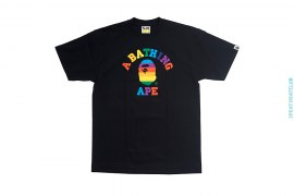 Rainbow College Logo Tee by A Bathing Ape