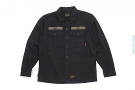 Buds Long Sleeve Button-Up Work Shirt by Wtaps