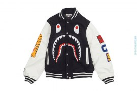 WGM Shark Varsity Jacket by A Bathing Ape