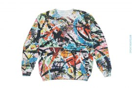 Sample #8 Artisan Sublimation Reverse Fleece Crewneck Sweatshirt by Art As Clothes