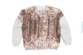 Sample #9 Artisan Sublimation Reverse Fleece Crewneck Sweatshirt by Art As Clothes