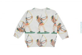 Sample #23 Kids Artisan Sublimation Reverse Fleece Crewneck Sweatshirt by Art As Clothes